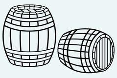 Trätrumma stock illustrationer
