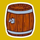Trätrummasymbol, utdragen stil för hand vektor illustrationer