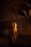Trätrummor av vin Royaltyfria Bilder