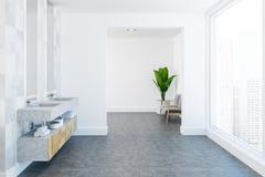 Trätvilling- lyxig badrumvask, sidosikt fotografering för bildbyråer