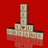 Träume auf Block Stockfoto