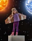 Träume des Werdens ein Raumfahrer lizenzfreies stockfoto