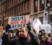 Träume haben keine Grenzen - Studenten Protest - Troja, New York lizenzfreies stockfoto
