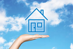 Träumen über ein Haus Lizenzfreie Stockfotos