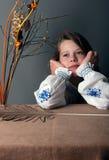Träumen des kleinen Mädchens Stockfotografie