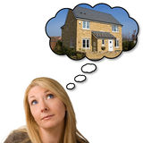 Träumen des neuen Hauses lizenzfreie stockfotos