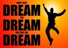 Träumen des Traums lizenzfreie abbildung