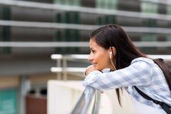 Träumende Studentin Lizenzfreie Stockfotos