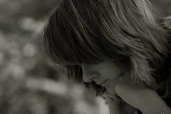 Träumendes Mädchen Stockfoto