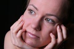 Träumerische Frau stockfotos