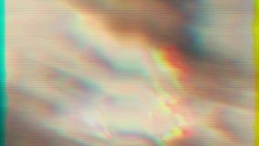 Träumerische helle Elemente, chaotische Verzerrungen, Signalfehlerkonzept stock video footage