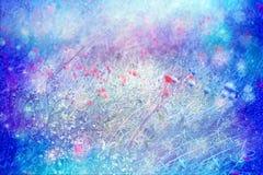 Träumerische künstlerische Wiese von Mohnblumen Stockfotos