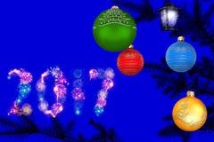 Träumerische Nacht des neuen Jahres Lizenzfreies Stockfoto