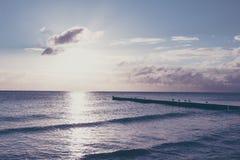 Träumerische Stimmung auf dem Strand Lizenzfreies Stockbild