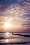 Träumerische Stimmung auf dem Strand Stockfotografie