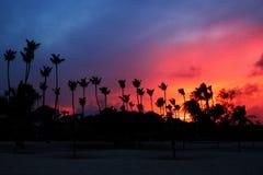 Träumerischer Sonnenuntergang in Dominikanischer Republik Punta Cana lizenzfreies stockfoto