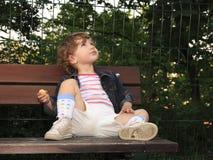 Träumerisches Kind Stockbild