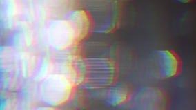 Träumerisches Licht spritzt, gelegentliche Verzerrung, alter Schirmeffekt Übergang für Ihr Projekt stock footage