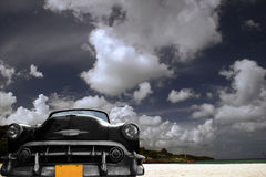 Träumerisches Strandauto Stockbilder