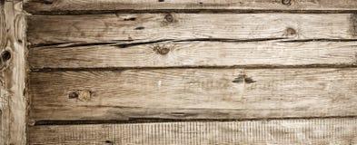 Trävägg av den gamla timret Royaltyfri Fotografi