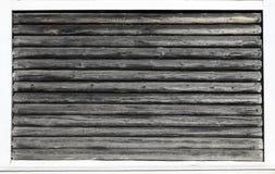 Trävägg från journaler som en bakgrundstextur arkivbilder