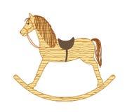Trävagga häst Arkivfoto