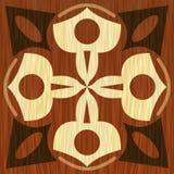 Träwood modeller för inlägg, för ljus och för mörker Fanér texturerad antik geometrisk prydnad Träkonstgarneringmall vektor illustrationer