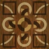 Träwood modeller för inlägg, för ljus och för mörker Fanér texturerad geometrisk prydnad Träkonstgarneringmall stock illustrationer