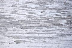 Träyttersida med sprickor och skalning av vit målarfärg royaltyfria bilder