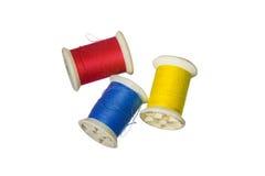 Tråd för primära färger Arkivfoto