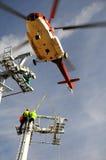 tråd för rep för block för batterihelikoptermontering royaltyfri bild