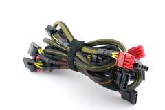 tråd för stickkontakter för elektrisk set för propp för datordof grund Royaltyfri Bild