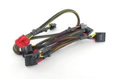 tråd för stickkontakter för elektrisk set för propp för datordof grund Royaltyfri Fotografi