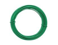 Tråd som täckas med grön plast- royaltyfria foton
