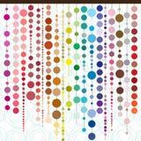 Trådar av kulöra pärlor i olika former och färger royaltyfri illustrationer