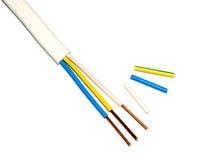 Trådar för elektrisk kabel Royaltyfria Foton