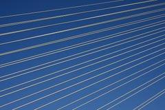 Trådar i himlen Fotografering för Bildbyråer