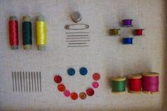 Trådar, knappar och visare Royaltyfri Foto