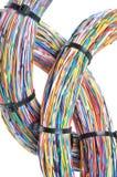Trådar med kabelkontakter Arkivbilder