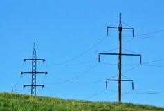 Trådkraftledningar Fotografering för Bildbyråer