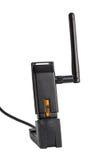Trådlös adapter för USB Wi-Fi Arkivfoto