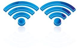 Trådlös anslutning Logo Wifi Icon Wifi Sign för vektor 3D Wifi Arkivbild