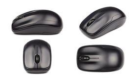 Trådlös mus för dator som isoleras på vit bakgrund för affärs-, utbildnings- och teknologibegreppsdesign arkivfoton