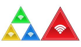 Trådlös symbol, tecken, illustration Royaltyfri Bild