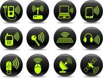 trådlösa symboler Arkivfoto