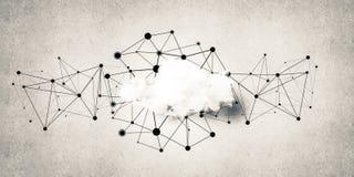 Trådlösa teknologier för anslutning och deladata som abstrac Fotografering för Bildbyråer