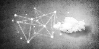 Trådlösa teknologier för anslutning och deladata som abstrac Arkivbild