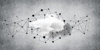 Trådlösa teknologier för anslutning och deladata som abstrac Royaltyfri Foto