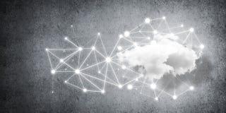 Trådlösa teknologier för anslutning och deladata som abstrac Royaltyfri Bild