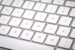 Trådlöst metalliskt tangentbord Arkivbild
